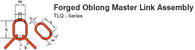 Forged Oblong Master Link Assembly TLQ Series