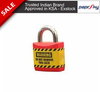 Economy lockout Padlock Red - 17MM