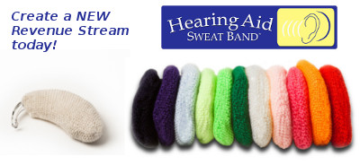 Resellers can make money with the ORIGINAL Hearing Aid Sweat Band™ - Help your Customers Protect Their Hearing Aid Investment