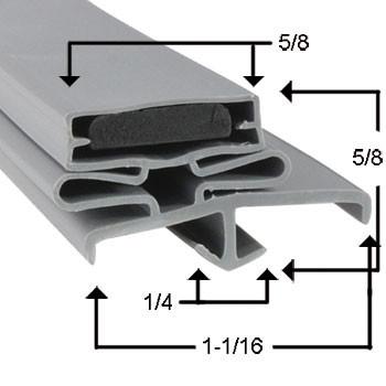 Traulsen Gasket 21 1/2 x 29 1/2 - Profile 165