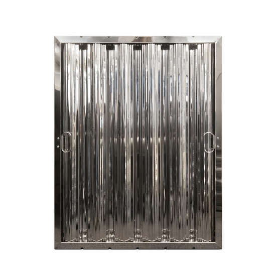 "25"" X 20"" Stainless Steel Grease Hood Filter"