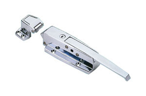 Walk-In Door Latch with Strike & Lock