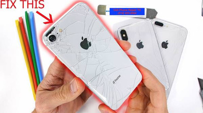 This repair will replace your glass on the back of your iPhone 8, 8 Plus, X, XR, XS and XS Max.