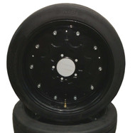 "New 25"" Tall Batwing Shredder Foam Filled Tire on Rim - Picked up at Warehouse"