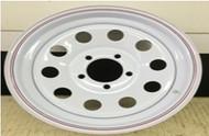 14 Rim 14x6 5Bolt 5x4.5 White 3in Center Mod Trailer Wheel