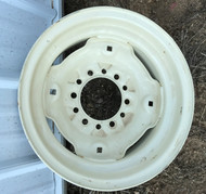 15 Rim 15x6 6Bolt 2sets of Holes Cream Implement 4.5in Center Wheel