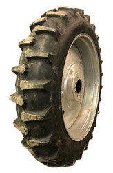 New Tire 11.2 38 Farm Boy ND Assembly 8 ply 11.2x38 Tire Tube Mounted on Galvanized Rim  ATD