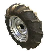 New Tire 11.2 24 Deestone D312 R1 Assembly 8 ply 11.2x24 Tire Tube Mounted on Galvanized Rim  SIL