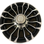 "New 16"" Aluminum Trailer Wheel 16x6 8x6.5 8 Bolt Pinnacle 01 with Center Cap"