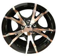 "New 15"" Sendel T07 Aluminum Trailer Wheel 15x6 5x4.5 5 Bolt with Center Cap"