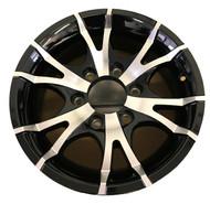 """New 15"""" Sendel T07 Aluminum Trailer Wheel 15x6 6x5.5 6 Bolt 6 Spoke"""