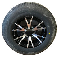 205 75 15 Loadmaxx 8 Ply Trailer Tire Mounted on Sendel T07 Aluminum Wheel 6x5.5 6 Bolt  ST205/75R15