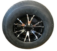 225 75 15 Hercules 12 Ply All Steel Trailer Tire Mounted on Sendel T07 Aluminum Wheel 6x5.5 6 Bolt  ST225/75R15