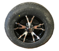 205 75 15 Loadmaxx 8 Ply Trailer Tire Mounted on Sendel T07 Aluminum Trailer Wheel 5x4.5 5 Bolt with Center Cap ST205/75R15