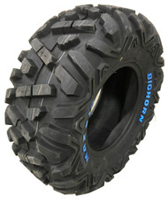 25 10.00 12 Maxxis Radial Bighorn 6 ply White Letters ATV 25x10.00R12