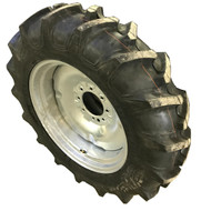 11.2 38 Harvest King R1 Assembly Tire Tube Mounted on a Rim 6ply