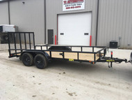 2019 BigTex 16ft Tandem Axle Utility Flatbed Trailer