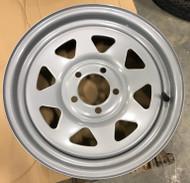 15 Rim 15x5 5on4.5 3center Silver Spoke Trailer New Wheel