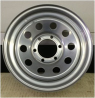 15 Rim 15x6 6Bolt 6x5.5 Mod Silver Trailer Wheel