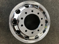 24.5 Rim 8.25 24.5 Hub Pilot Aluminum Polished New Wheel 8.25x24.5