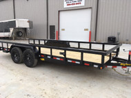 New 2019 Big Tex 14PI-18 Flatbed Trailer 18ft x 83""