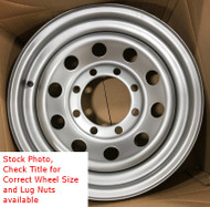15 Inch New Trailer Wheel 15x6 6on5.5 6x5.5 6 Bolt 6 Lug Silver Mod Rim SIL