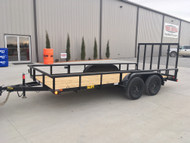 "New 2020 Big Tex 60PI-16 Tandem Axle Utility Trailer 77"" x 16ft"
