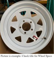 16 Inch New Trailer Wheel 16x6 8on6.5 8x6.5 8 Bolt 8 Lug White Spoke Rim DOB