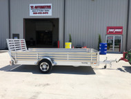 "New 2021 Hillsboro 78""x14ft Aluminum Utility Trailer 24 inch Solid Sides"