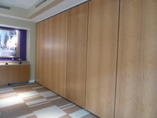 Anigre Veneer Movable Partitions