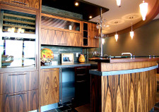 Rosewood Veneer Kitchen and Bar