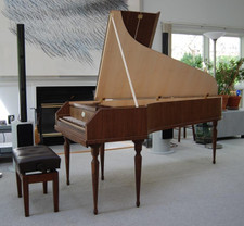 Walnut and Quilted Maple Veneer Fortepiano