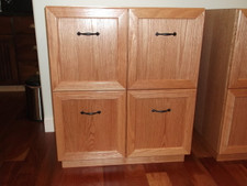 Flat Cut Red Oak Veneer Recordphile Cabinets