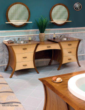 Knockout Maple and Walnut Veneer Double Vanity