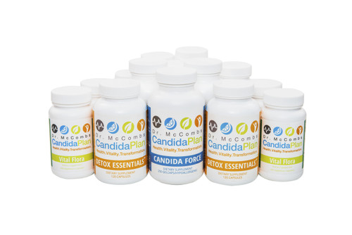 Candida Diet Complete Set for the Candida Plan, Now with Ester-C Plus. The revolutionary Candida Diet program by Dr. Jeff McCombs, DC that effectively balances Systemic Candida and restores normal balance to the whole body. The benefits and outstanding results The Candida Plan is known for are achieved by completing the entire program which is four months long (16 weeks). Some people prefer to purchase the supplements needed all at once (Complete Set) while others prefer to buy them on a monthly basis.