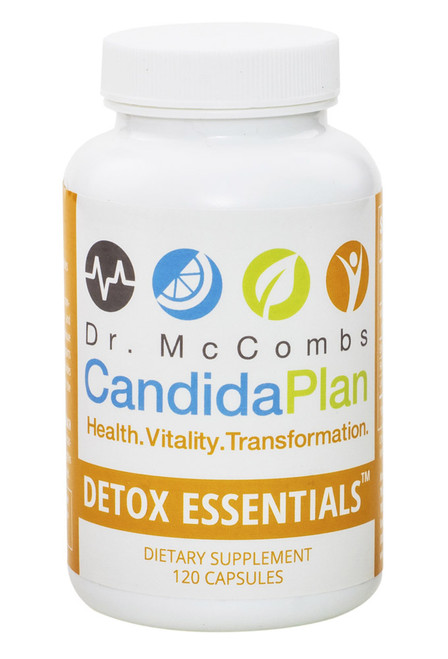 """Detox Essentials is the most effective product for boosting antifungal immunity in the body. It is a part of the revolutionary Candida Diet program by """"The Candida Doctor"""", Dr. Jeff McCombs, DC, that effectively balances Systemic Candida and restores normal balance to the whole body. The benefits and outstanding results The Candida Plan is known for are achieved by completing the entire program which is four months long (16 weeks). Some people prefer to purchase the supplements needed all at once (Complete Set) while others prefer to buy them on a monthly basis."""
