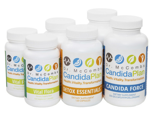 """Everything you need to complete the 2nd month of The Candida Diet Plan. The revolutionary Candida Diet program by """"The Candida Doctor"""", Dr. Jeff McCombs, DC, that effectively balances Systemic Candida and restores normal balance to the whole body. The benefits and outstanding results The Candida Plan is known for are achieved by completing the entire program which is four months long (16 weeks)."""