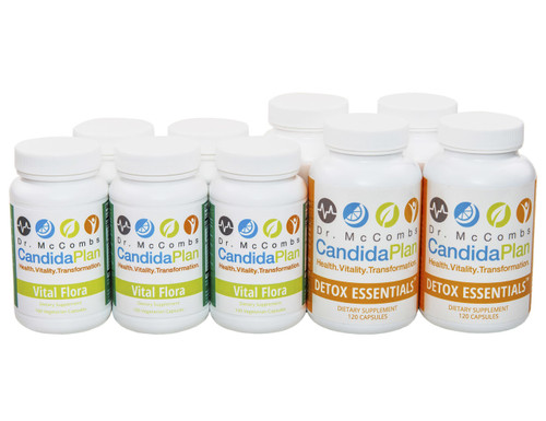 The Candida Diet's Second 8 weeks of the Plan. The revolutionary Candida Diet program by Dr. Jeff McCombs, DC that effectively balances Systemic Candida and restores normal balance to the whole body. The benefits and outstanding results The Candida Plan is known for are achieved by completing the entire program which is four months long (16 weeks). Some people prefer to purchase the supplements needed all at once (Complete Set) while others prefer to buy them on a monthly basis.