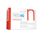 Backed by many successful clinical trials, years of research and the leading team in Nitric Oxide research, our proprietary, clinical strength and patented Neo40 Professional formula is developed out of years of scientific research from the University of Texas Health Science Center and the N-O Discovery Program and is available only to physicians.  It is the most efficacious, concentrated and convenient daily supplement to help to quickly increase the body's Nitric Oxide levels. Neo40 Professional offers significantly more N-O production in each tablet, with added methylfolate for increased efficacy, than our flagship Neo40 Daily.  Available only for those under the care of a healthcare practitioner, Neo40 Professional may help promote:      Artery dilation for healthy blood flow     Healthy blood pressure levels     Cardiovascular and heart health     Increased circulation throughout the body     Healthy arterial function     Healthy endothelium function