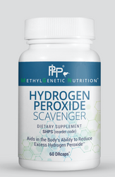 Hydrogen Peroxide Scavenger aids in the detoxification of hydrogen peroxide (H202), a potent oxidant free radical that is naturally produced in the body to kill pathogens and is involved in cell signaling. Higher than normal levels of H202 can occur and cause harm to the body due to its inability to be cleared properly by catalase and glutathione. High amounts of this oxidant are often shuttled through the Fenton reaction with iron and/or copper to produce the highly toxic hydroxyl free radical.
