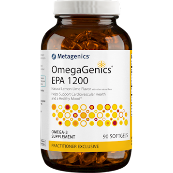 Helps Support Cardiovascular Health and a Healthy Mood*  OmegaGenics® EPA 1200 features a concentrated, purified source of omega-3 fatty acids from sustainably sourced, cold-water fish. Each softgel provides a total of 1,200 mg of EPA.  All OmegaGenics formulas are tested for purity and quality and stabilized with antioxidants to maintain freshness.