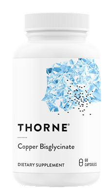 Copper Bisglycinate, an optimally absorbed Albion mineral chelate, supports bone, blood vessel, heart, nerve, and skin health.* Copper is a trace mineral that is essential for bone health, connective tissue health, cardiovascular health, lipid metabolism, neurological health, and skin health.* It's also a component of the antioxidant enzyme superoxide dismutase.