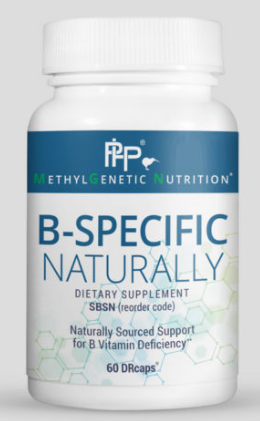 B-Specific Naturally formulation contains a unique and complete blend of Orgen-B's water-soluble B vitamins: thiamin, riboflavin, niacin, pyridoxine, folate, and pantothenic acid. These vitamins are not synthesized by the body and must be supplied by the diet or produced by the microbiome. The B Complex is required for the metabolism of proteins, fats, and carbohydrates. This complex also catalyzes enzymatic chain reactions by acting as coenzymes for the release of energy and has been demonstrated in clinical trials to help aid in stress management. This formulation also contains Orgen-B's proprietary organic blend, humic acid, guava, holy basil, and lemon extract.