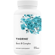 Basic B Complex contains active forms of the vitamins for enhanced availability to the tissues.* B vitamins are essential for healthy neurological function and energy production.* Most B vitamins do not remain stored in the body, so they must be acquired daily from the diet to help maintain optimal health.* Therefore, supplementing with tissue-ready B vitamins is important to everyone, especially individuals who might not be able to convert non-active B vitamins to their active forms in the liver.*  Basic B Complex consists of 10 water-soluble compounds and contains the active forms of several of the B vitamins for enhanced utilization: thiamine (vitamin B1), riboflavin 5'-phosphate (active vitamin B2), niacin and niacinamide (two forms of vitamin B3), pantothenic acid (vitamin B5), pyridoxal 5'-phosphate (active vitamin B6), methylcobalamin (active vitamin B12), 5-MTHF (active folate), biotin, and choline.* Both individually and together these nutrients support cellular energy production, healthy red blood cell formation, and healthy neurological function.*