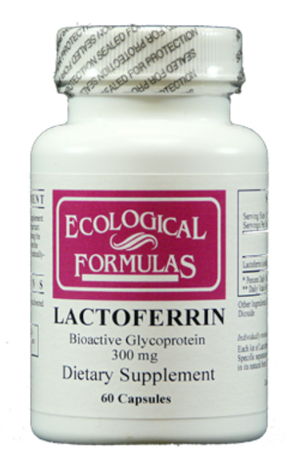 Lactoferrin 300 mg by Ecological Formulas is a supplement that is often used to support the immune system. It is a product that supports the natural health of the body with ingredients that include milk and rice flour. Lactoferrin 300 mg by Ecological Formulas helps to maintain a healthy level of the good bacteria that is found in the digestive system. It maintains a healthy digestive tract by helpig balance beneficial and non-beneficial bacteria. Lactoferrin 300 mg by Ecological Formulas increases the ability of the cells in the body to adhere to iron. Some of the cells in the body need a healthy supply of iron in order to multiply. Components in the supplement are found naturally in the body, with the supplement increasing those levels to provide the most support for the body as possible.