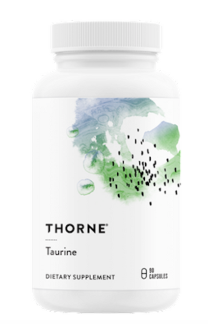 Taurine is a conditionally essential, sulfur-containing amino acid and the most abundant amino acid in the heart. Taurine supplementation has been shown to benefit the production of nitric oxide in the vascular endothelium, which is essential to optimal blood flow, maintaining already normal blood pressure, and overall cardiovascular function.*   Taurine also acts as an antioxidant.* In the liver, taurine is combined with bile acids, which results in increased cholesterol solubility and excretion, thus helping to maintain healthy cholesterol levels already in the normal range.* Taurine's involvement in bile acid formation facilitates fat digestion, fluid regulation, detoxification of environmental toxins, regulation of cellular calcium, and regulation of nerve excitability.*