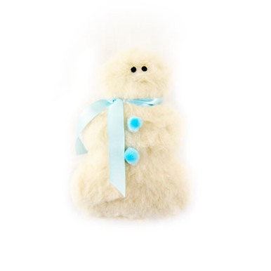 Adorable Holiday Snowman Squeaker Dog Toy