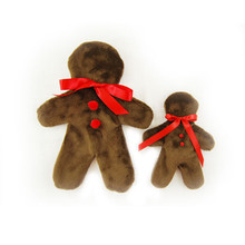 Gingerbread Man Unstuffed Dog Toy - Single (Assorted)