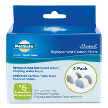 Drinkwell® Avalon & Pagoda Fountain Activated Carbon Filters (4-Pack)