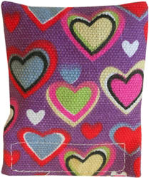 Cat'n Around Catnip Heart Pillow- Refillable - Single, Assorted